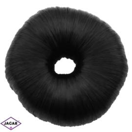 Wypełniacz do włosów donut - czarny - 7cm - WYP35