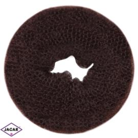Wypełniacz do włosów donut - brąz - 7cm - WYP36