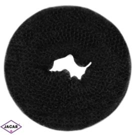 Wypełniacz do włosów donut - czarny - 7cm - WYP37