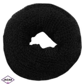 Wypełniacz do włosów donut - czarny - 6cm - WYP38