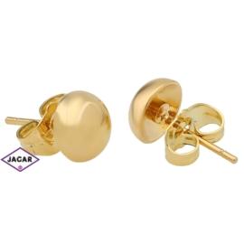 Kolczyki pozłacane Xuping - średnica:0,8cm EAP2983