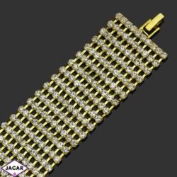 Bransoletka z kryształami(10)-dł:18cm BRA498