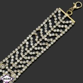 Bransoletka z kryształami -dł:23cm BRA516