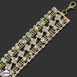Bransoletka z kryształami -dł:24cm BRA545