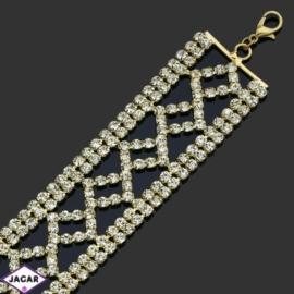 Bransoletka z kryształami -dł:25cm BRA520