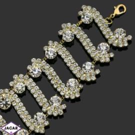 Bransoletka z kryształami -dł:22cm BRA521