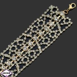 Bransoletka z kryształami -dł:24cm BRA522