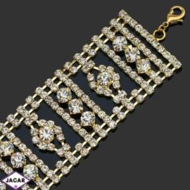 Bransoletka z kryształami -dł:22cm BRA525