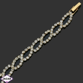 Bransoletka z kryształami -dł:18cm BRA528