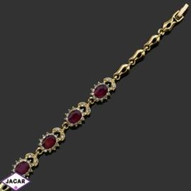Bransoletka z kryształami -dł:18cm BRA531