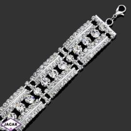 Bransoletka z kryształami -dł:25cm BRA534