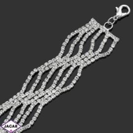 Bransoletka z kryształami -dł:28cm BRA535