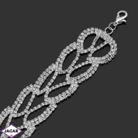 Bransoletka z kryształami -dł:27cm BRA536