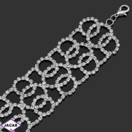 Bransoletka z kryształami -dł:28cm BRA537