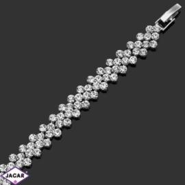 Bransoletka z kryształami -dł:20cm BRA540