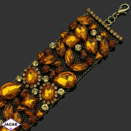 Bransoletka z kryształami -dł:23,5cm BRA546