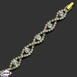 Bransoletka z kryształami -dł:20cm BRA547