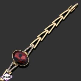 Bransoletka z kryształami -dł:17cm BRA548