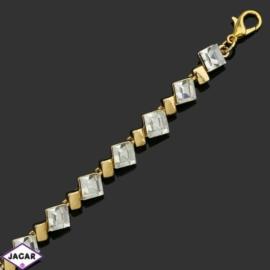 Bransoletka z kryształami -dł:21cm BRA549