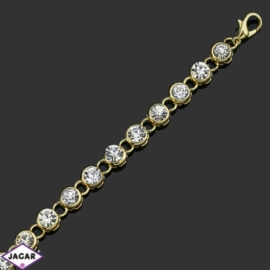 Bransoletka z kryształami -dł:21cm BRA550