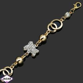 Bransoletka z kryształami -dł:25cm BRA551