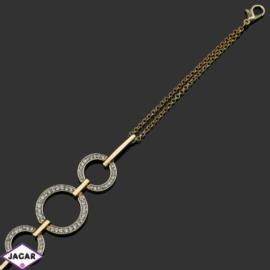 Bransoletka z kryształami -dł:29cm BRA553