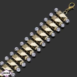 Bransoletka z kryształami -dł:23cm BRA554