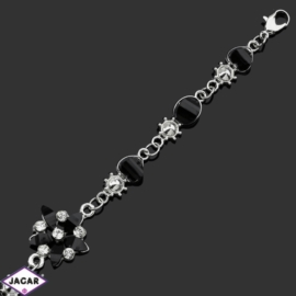 Bransoletka z kryształami -dł:21cm BRA555