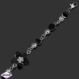 Bransoletka z kryształami -dł:21cm BRA556