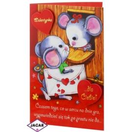 Kartka Walentynkowa - 17,5cm x 12,5cm - KAR08