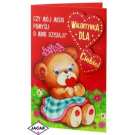 Kartka Walentynkowa - 17,5cm x 12,5cm - KAR09