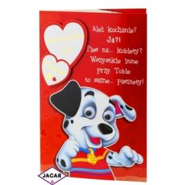 Kartka Walentynkowa - 17,5cm x 12,5cm - KAR10