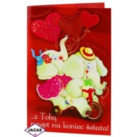 Kartka Walentynkowa - 17,5cm x 12,5cm - KAR11