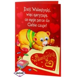 Kartka Walentynkowa - 17,5cm x 12,5cm - KAR12