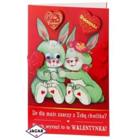 Kartka Walentynkowa - 17,5cm x 12,5cm - KAR13