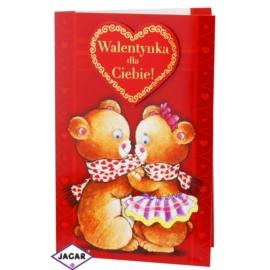 Kartka Walentynkowa - 17,5cm x 12,5cm - KAR14