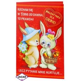 Kartka Walentynkowa - 17,5cm x 12,5cm - KAR15