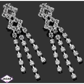 Klipsy ślubne - kryształy - 5,8cm SK135