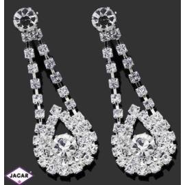 Kolczyki ślubne - kryształy - 4,5cm SK139