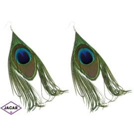 Kolczyki - pawie oczko - dł.15cm - EA603
