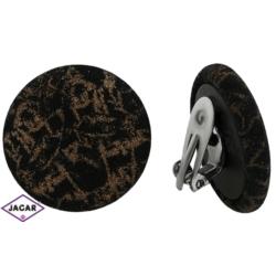 Klipsy H&S - 2,6cm - EA590 brązowy tekstura
