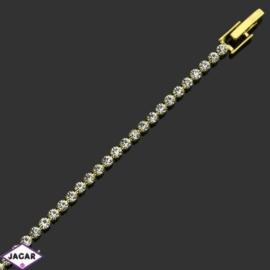 Bransoletka z kryształami(1)-dł:19cm BRA486 gold