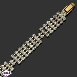 Bransoletka z kryształami(4)-dł:19cm BRA504