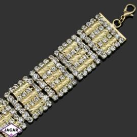 Bransoletka z kryształami -dł:24cm BRA514 gold