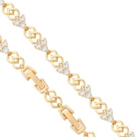 Bransoletka zawijasy i kryształy - 20cm - BP1390