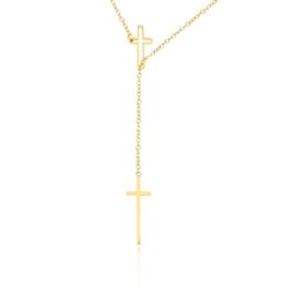 Celebrytka złocona - krzyżyki - dł: 50cm CP611
