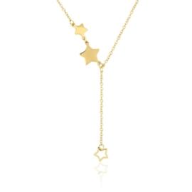 Celebrytka złocona - gwiazdy - dł: 50cm CP612