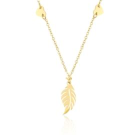 Celebrytka złocona -  pióro - dł: 45cm CP613