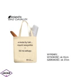 Torba ekologiczna torba zakupowa 100% bawełna TZ33