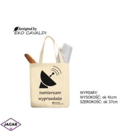 Torba ekologiczna torba zakupowa 100% bawełna TZ35